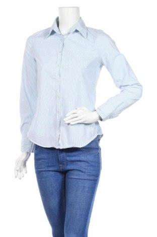 Дамска риза H&M L.O.G.G., Размер M, Цвят Син, 98% памук, 2% еластан, Цена 9,82лв.