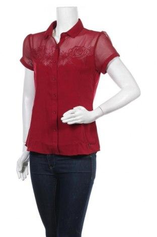 Γυναικείο πουκάμισο Kaporal, Μέγεθος M, Χρώμα Κόκκινο, Πολυεστέρας, Τιμή 20,97€