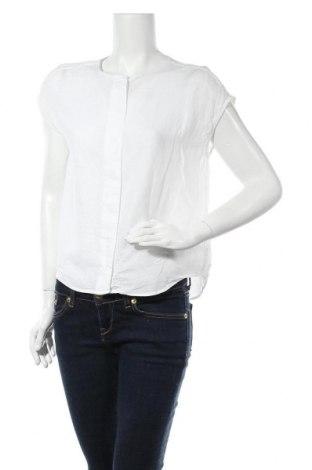 Дамска риза Mango, Размер S, Цвят Бял, 55% лен, 45% вискоза, Цена 33,00лв.
