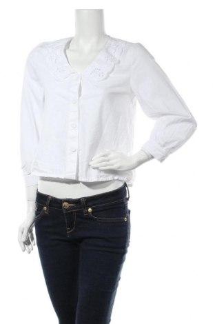 Дамска риза Mango, Размер S, Цвят Бял, Памук, Цена 22,40лв.