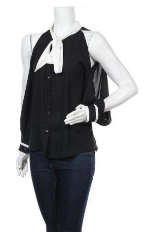 Дамска риза New Laviva, Размер M, Цвят Черен, 60% полиестер, 40% памук, Цена 14,75лв.