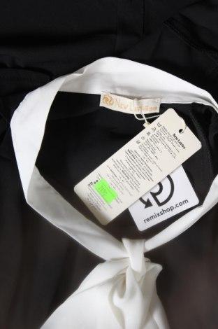 Дамска риза New Laviva, Размер M, Цвят Черен, 60% полиестер, 40% памук, Цена 22,42лв.