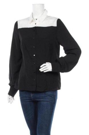 Дамска риза Nife, Размер L, Цвят Черен, 98% памук, 2% еластан, Цена 18,90лв.