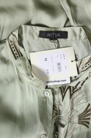 Дамска риза Nitya, Размер M, Цвят Зелен, Полиестер, Цена 31,60лв.