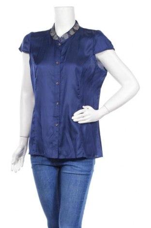 Γυναικείο πουκάμισο Nitya, Μέγεθος L, Χρώμα Μπλέ, Βισκόζη, Τιμή 18,35€