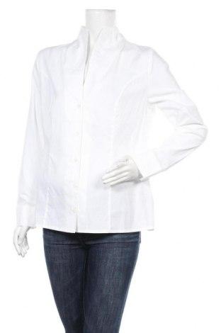 Дамска риза Patrizia Dini, Размер L, Цвят Бял, 97% памук, 3% еластан, Цена 22,20лв.