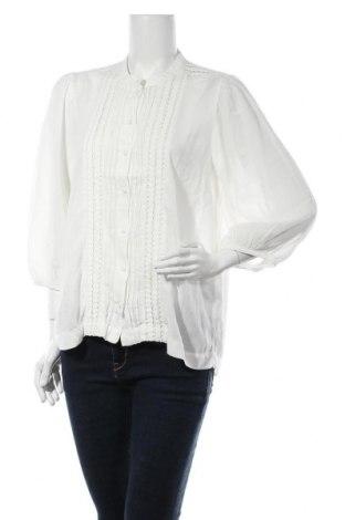 Дамска риза Selected Femme, Размер M, Цвят Екрю, 55% вискоза, 45% памук, Цена 19,84лв.