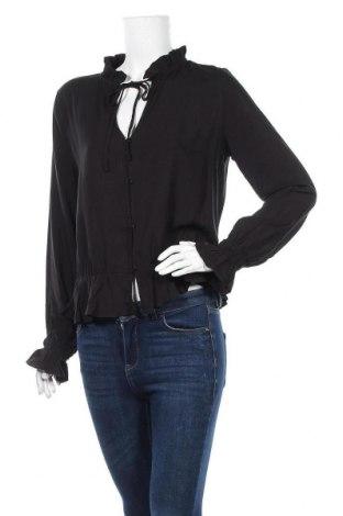 Дамска риза Tigha, Размер L, Цвят Черен, Вискоза, Цена 41,65лв.