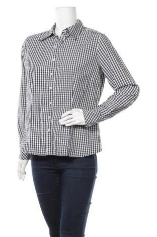 Дамска риза Via Appia, Размер L, Цвят Черен, 63% памук, 33% полиестер, 4% еластан, Цена 8,40лв.
