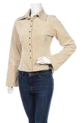 Дамска риза Watcher, Размер L, Цвят Бежов, 97% памук, 3% еластан, Цена 4,73лв.