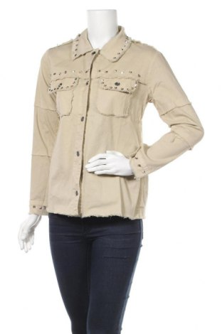 Дамска риза Zibi London, Размер L, Цвят Бежов, Памук, Цена 13,72лв.
