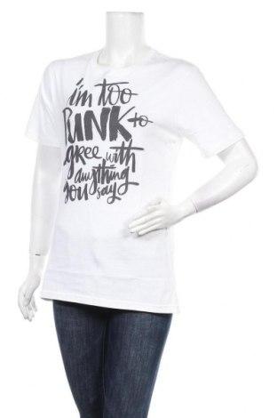 Дамска тениска, Размер M, Цвят Бял, Памук, Цена 20,00лв.
