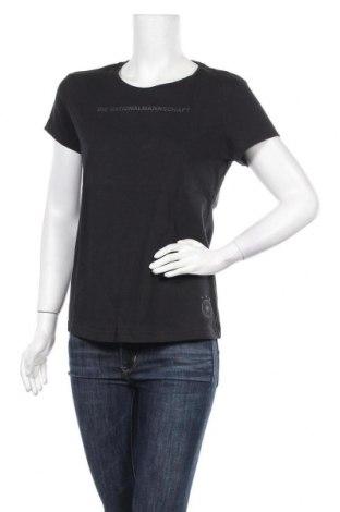 Дамска тениска Adidas, Размер M, Цвят Черен, 70% памук, 30% полиестер, Цена 59,25лв.