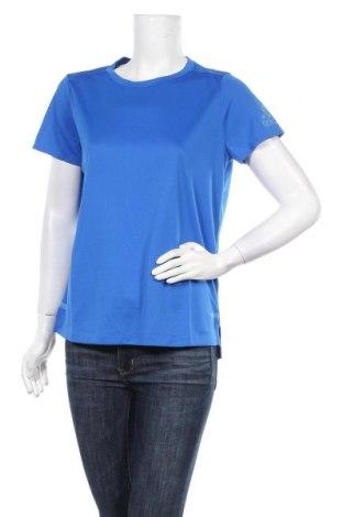 Γυναικείο t-shirt Adidas, Μέγεθος M, Χρώμα Μπλέ, Πολυεστέρας, Τιμή 18,32€