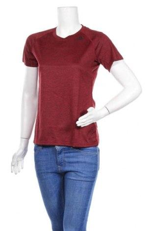 Дамска тениска Adidas, Размер S, Цвят Червен, Полиестер, Цена 19,83лв.