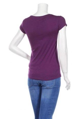 Дамска тениска Bershka, Размер M, Цвят Лилав, Памук, Цена 29,00лв.