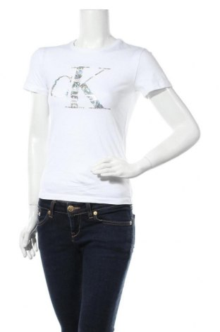 Дамска тениска Calvin Klein Jeans, Размер XS, Цвят Бял, Памук, Цена 51,48лв.