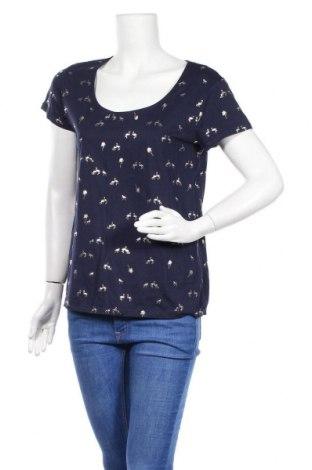 Дамска тениска Etam, Размер L, Цвят Син, 50% памук, 50% модал, Цена 29,88лв.