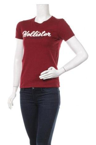 Дамска тениска Hollister, Размер XS, Цвят Червен, Памук, Цена 28,00лв.