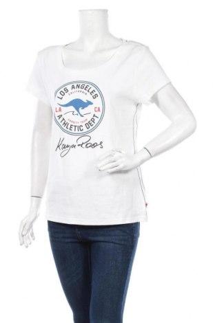Дамска тениска Kangaroos, Размер XL, Цвят Бял, Памук, Цена 24,07лв.