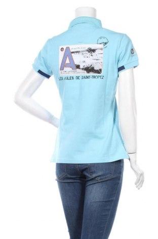 Дамска тениска Les ailes de Saint-Tropez, Размер M, Цвят Син, 95% памук, 5% еластан, Цена 28,80лв.