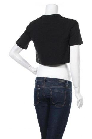 Дамска тениска NU-IN, Размер XXS, Цвят Черен, 64% лиосел, 32% памук, 4% еластан, Цена 46,02лв.