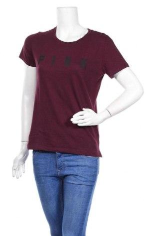 Дамска тениска Pink by Victoria's Secret, Размер M, Цвят Червен, 60% памук, 40% полиестер, Цена 36,40лв.