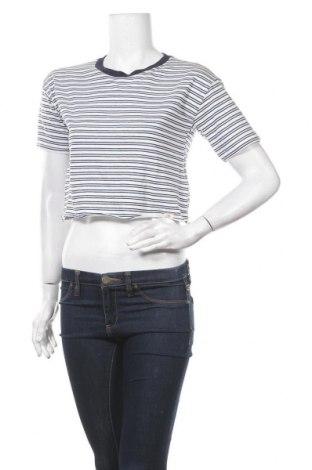 Дамска тениска Pull&Bear, Размер S, Цвят Син, Памук, Цена 12,60лв.