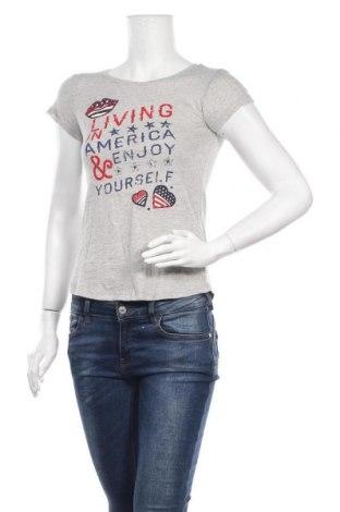 Дамска тениска Springfield, Размер XS, Цвят Сив, Памук, Цена 21,00лв.
