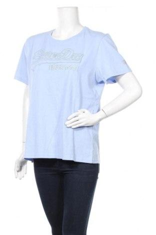 Дамска тениска Superdry, Размер XL, Цвят Син, Памук, Цена 55,20лв.