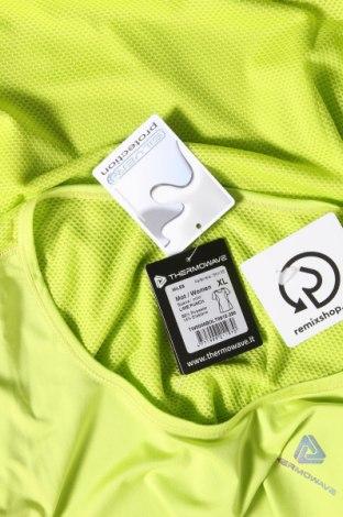 Дамска тениска Thermowave, Размер XL, Цвят Зелен, 86% полиестер, 14% еластан, Цена 21,07лв.
