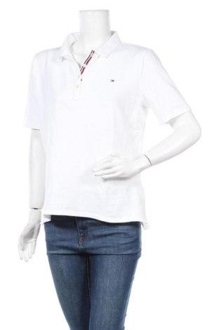 Дамска тениска Tommy Hilfiger, Размер XL, Цвят Бял, 96% памук, 4% еластан, Цена 61,62лв.