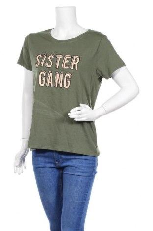 Дамска тениска Undiz, Размер L, Цвят Зелен, Памук, Цена 27,20лв.