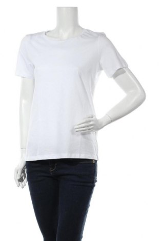 Дамска тениска Vila, Размер S, Цвят Бял, Памук, Цена 18,72лв.