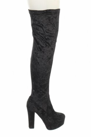 Γυναικείες μπότες, Μέγεθος 38, Χρώμα Μαύρο, Κλωστοϋφαντουργικά προϊόντα, Τιμή 11,47€
