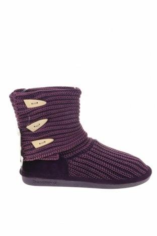 Γυναικείες μπότες Bearpaw, Μέγεθος 41, Χρώμα Βιολετί, Κλωστοϋφαντουργικά προϊόντα, φυσικό σουέτ, Τιμή 20,41€