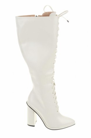 Γυναικείες μπότες Bebo, Μέγεθος 39, Χρώμα Λευκό, Δερματίνη, Τιμή 29,07€