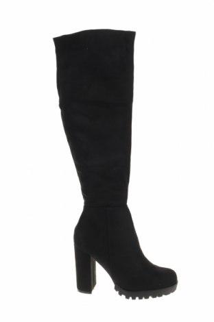 Γυναικείες μπότες Belle Women, Μέγεθος 40, Χρώμα Μαύρο, Κλωστοϋφαντουργικά προϊόντα, Τιμή 25,24€