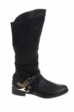 Γυναικείες μπότες La Bottine Souriante, Μέγεθος 38, Χρώμα Μαύρο, Δερματίνη, κλωστοϋφαντουργικά προϊόντα, Τιμή 12,37€