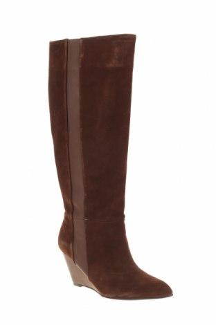 Γυναικείες μπότες Soft Grey, Μέγεθος 38, Χρώμα Καφέ, Φυσικό σουέτ, γνήσιο δέρμα, Τιμή 69,20€