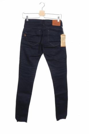 Дамски дънки, Размер XS, Цвят Син, 99% памук, 1% еластан, Цена 28,56лв.
