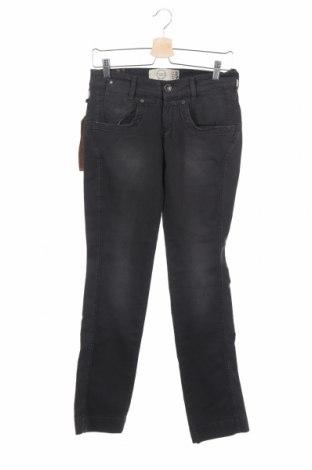 Дамски дънки Bershka, Размер S, Цвят Сив, 85% памук, 13% полиестер, 2% еластан, Цена 17,48лв.