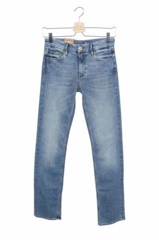 Дамски дънки H&M, Размер XS, Цвят Син, 98% памук, 2% еластан, Цена 25,97лв.