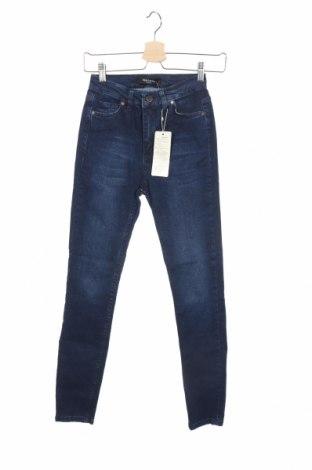 Дамски дънки New Laviva, Размер XS, Цвят Син, 98% памук, 2% еластан, Цена 15,50лв.