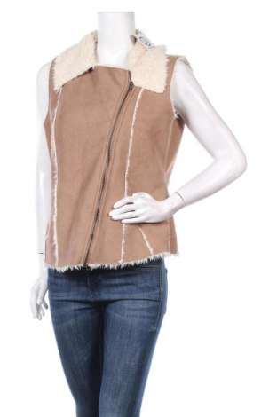 Дамски елек Dorothy Perkins, Размер L, Цвят Бежов, 100% полиестер, Цена 6,56лв.