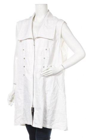 Дамски елек Gina Laura, Размер XL, Цвят Бял, 52% лен, 48% вискоза, Цена 20,79лв.