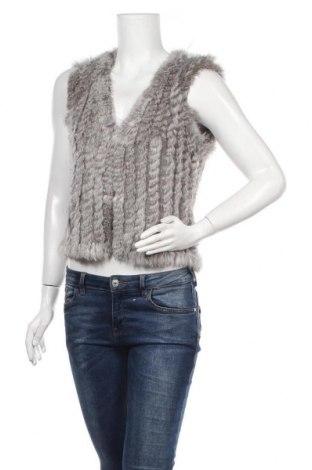 Γυναικείο γιλέκο Soya Concept, Μέγεθος S, Χρώμα Γκρί, Φυσική τρίχα, Τιμή 36,40€