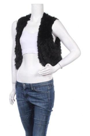 Γυναικείο γιλέκο Soya Concept, Μέγεθος XL, Χρώμα Μαύρο, Ακρυλικό, φυσική τρίχα, Τιμή 16,89€