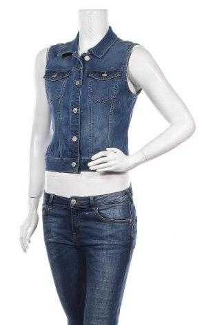 Дамски елек Wax Jean, Размер S, Цвят Син, 70% памук, 29% полиестер, 1% еластан, Цена 19,11лв.