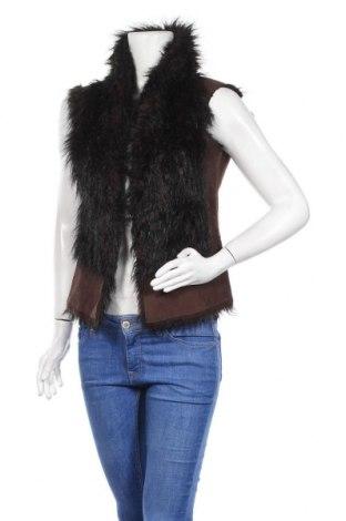 Дамски елек Zara, Размер S, Цвят Кафяв, 86% акрил, 14% полиестер, Цена 16,07лв.